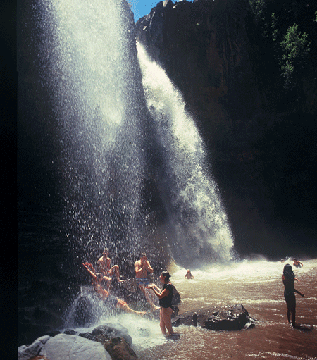 Swimming & Hiking At Botsoela Waterfall