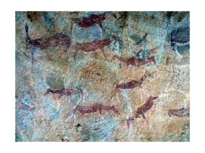 Bushmen Paintings at Ha Baroana